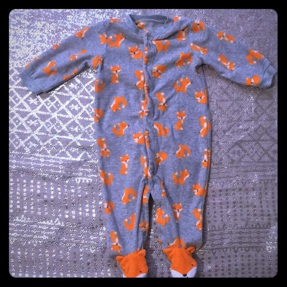 Carter's Other - Warm and fuzzy fox footie onesie